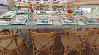 Mesas de banquete