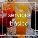 Servicio básico, incluye meseros, refrescos y cristaleria