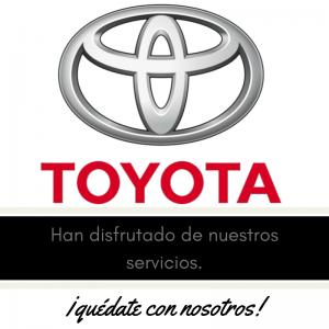 Nuestros clientes , meseros y eventos . Toyota