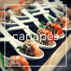 canapes sushi y bocadillos para eventos