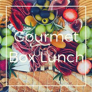 Gourmet Box Lunch Caja con queso y carnes frias