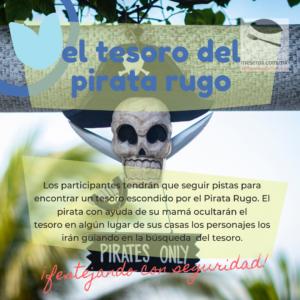 El tesoro del pirata Rugo para fiesta infantiles virtuales